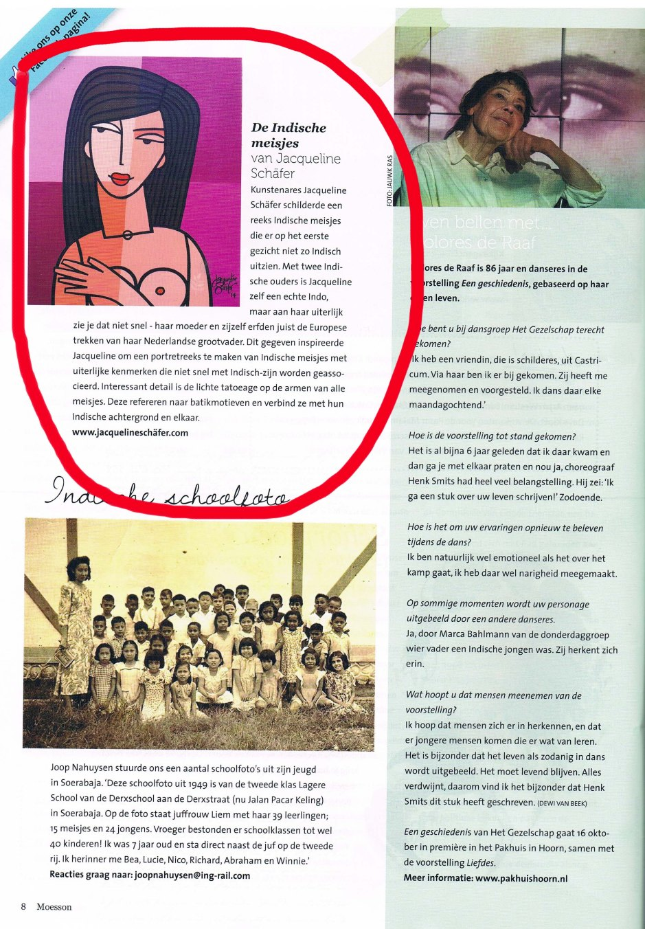 Article about the 'Indonesian girls' - in Moesson Magazine.